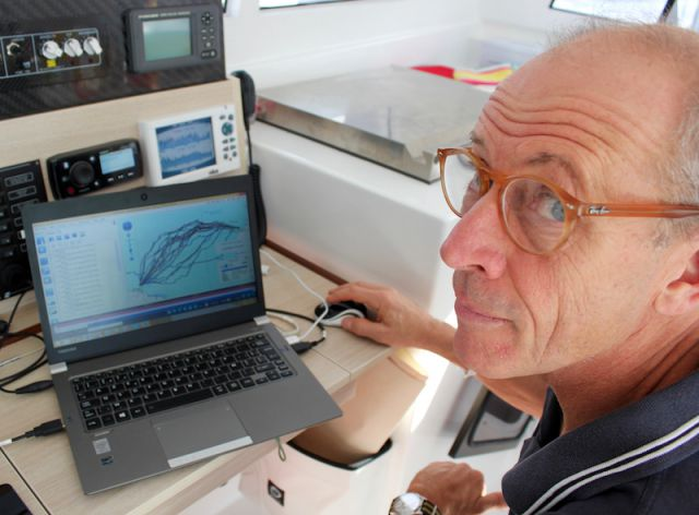 Gerald Bibot explains the likely weather senario for the start of the RORC Transatlantic Race - photo RORC/Louay Habib