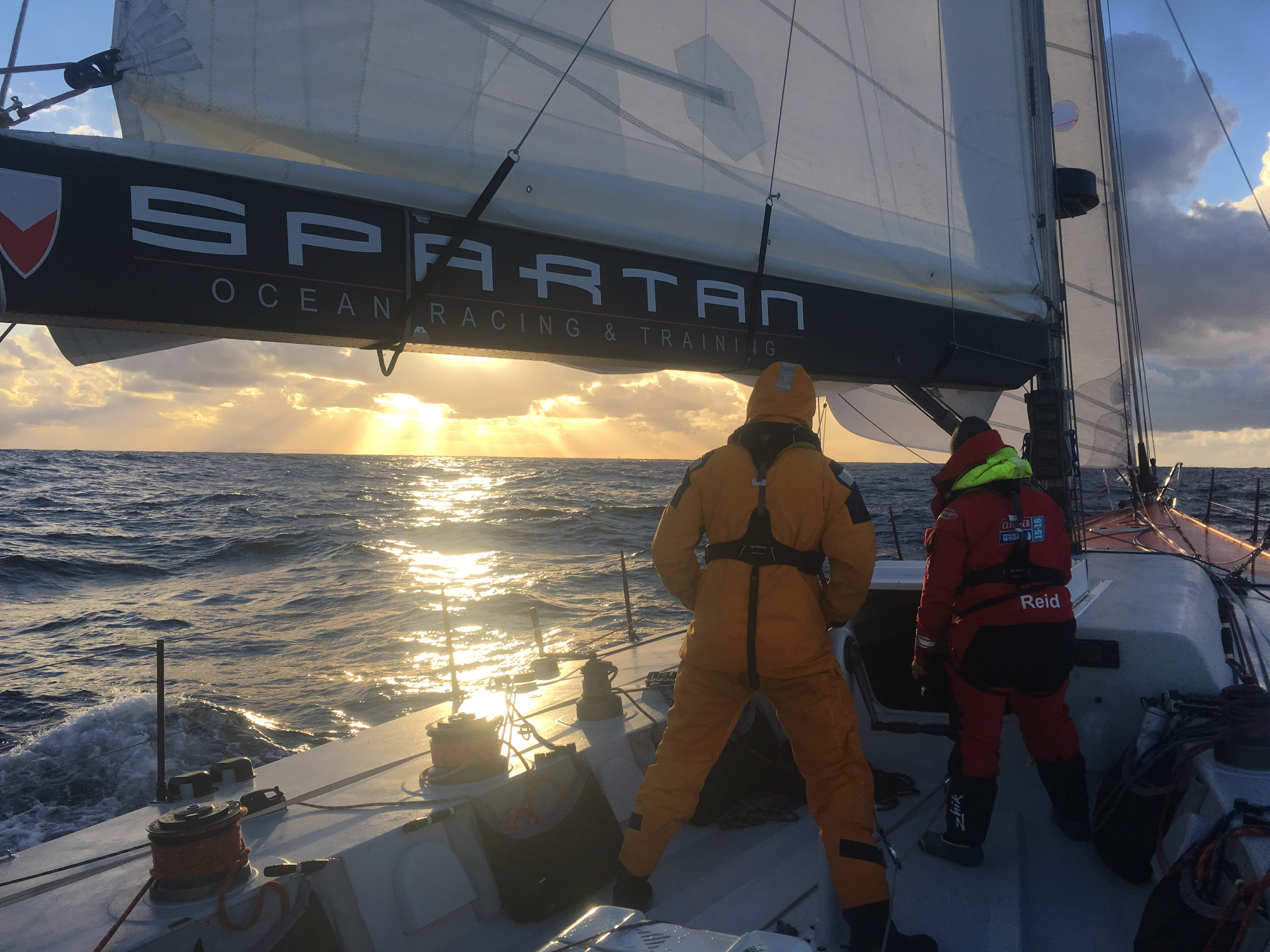 Challenger, Spartan Ocean Racing's Volvo 60 heading for Lanzarote and the RORC Transatlantic Race