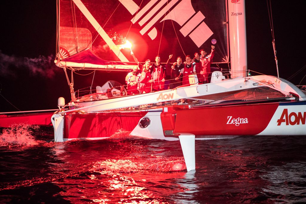 Giovanni Soldini's Multi 70 Maserati take Multihull Line Honours in the RORC Transatlantic Race © RORC/Arthur Daniel