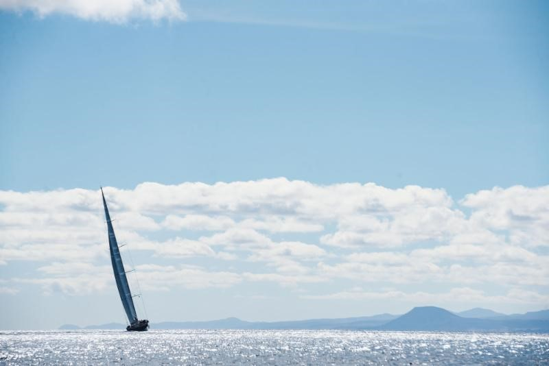 Racing through the Canary Islands after the start of the RORC Transatlantic Race from Lanzarote © RORC/Joaquín Vera