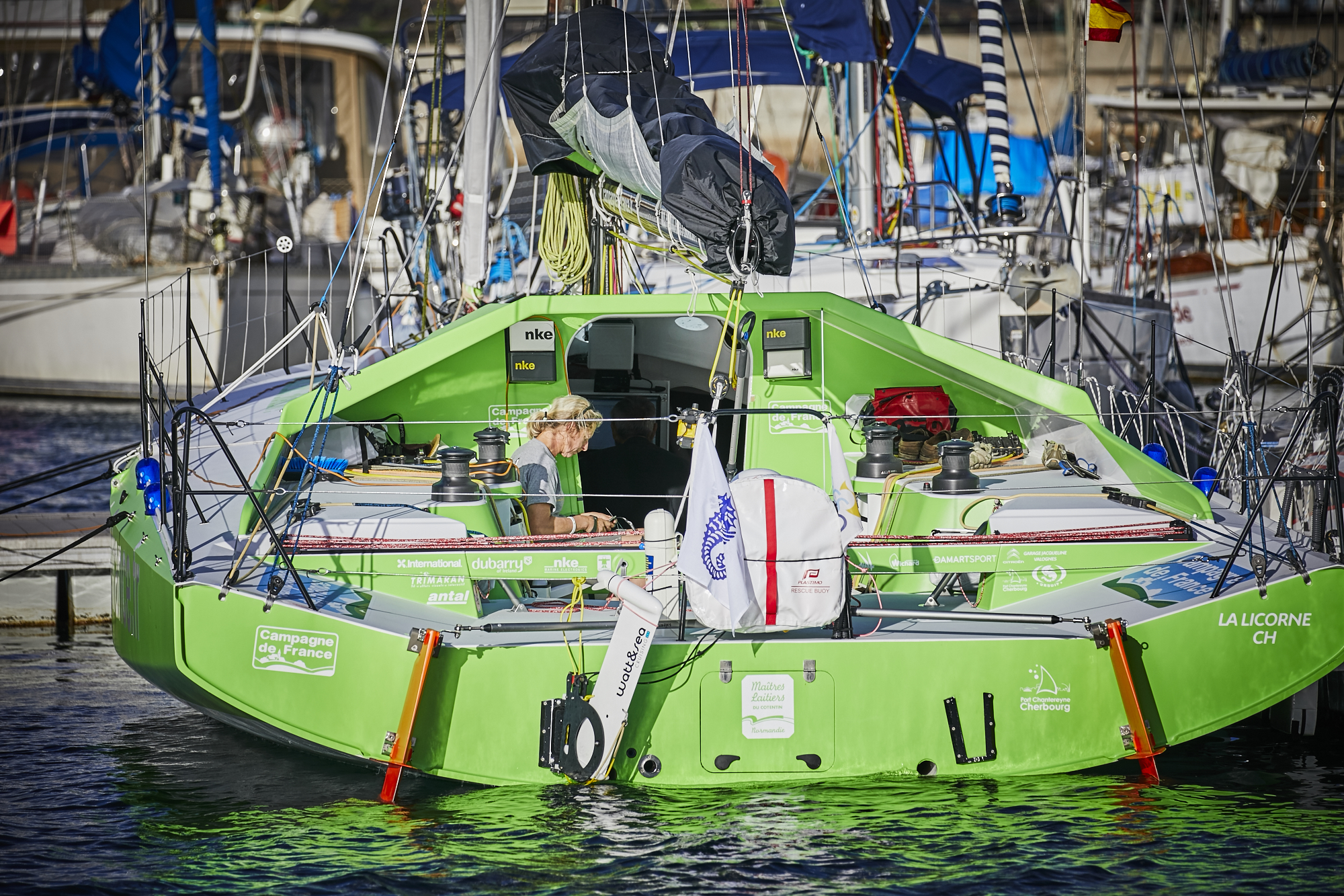Champagne De France skippered by Miranda Merron - photo RORC/James Mitchell