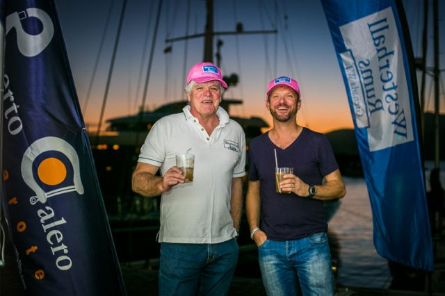 Nick Kingsman, Director of UK Sales at Westerhall Rums, with RORC Racing Manager, Nick Elliott. Credit:RORC/James Mitchell