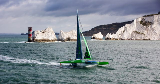 Phaedo3 blasts along the south coast of the Isle of Wight - photo Team Phaedo