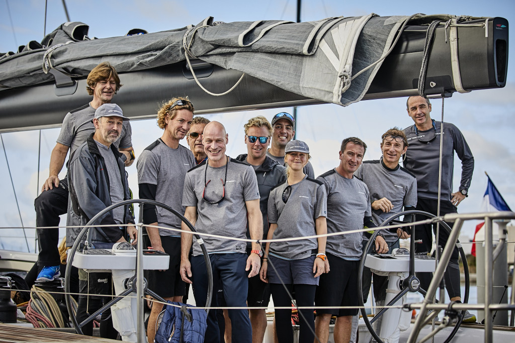 The crew of Aragon, winners of the 2016 RORC Transatlantic Race photo James Mitchel