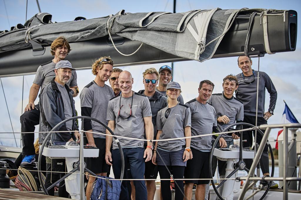 The crew of Aragon, winners of the 2016 RORC Transatlantic Race. Photo James Mitchell