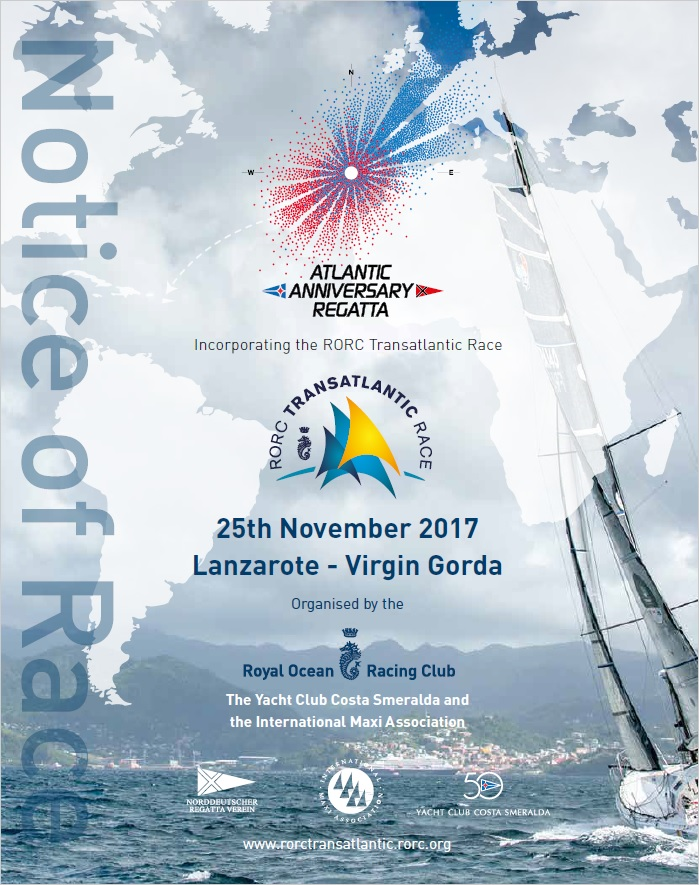 2017 RORC Transatlantic Race - Notice of Race