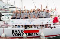 Young skipper, Alexander Beilken and crew on Bank von Bremen's J/V53 had friendly competition throughout the race with Hamburg-based boats  © RORC/Arthur Daniel