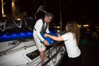 Being greeted dockside with a crate of cold beer was welcomed by the weary duo after nearly 22 days at sea © RORC/Arthur Daniel