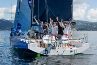 MarieJo, Berthold and Tobias Brinkmann's Class40 had a close battle with RED and finished in Grenada just under nine hours behind © RORC/Arthur Daniel