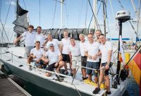 Tilmar Hansen, skipper of German Elliott 52 Outsider was delighted to win the ORC Division overall © RORC James Mitchell
