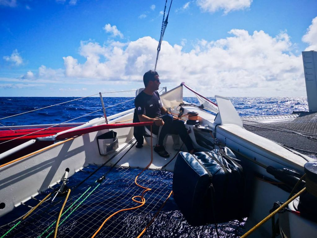 """Clothes and sleeping bags all drenched on board #MaseratiMulti70, but apart from that everything is good!"