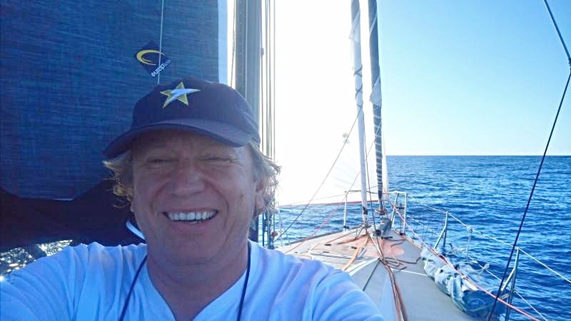 Enjoying a great race - Ari Kaensaekoski on board Class40 Sirius in the RORC Transatlantic Race © Sirius