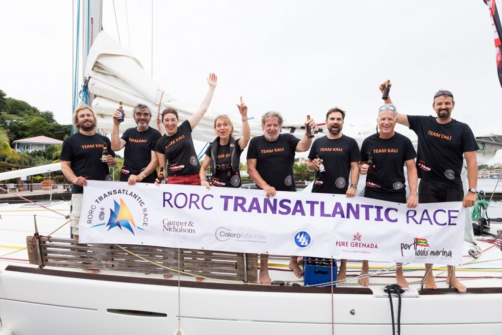 Team Kali arrive at Camper & Nicholsons Port Louis Marina © RORC/Arthur Daniel