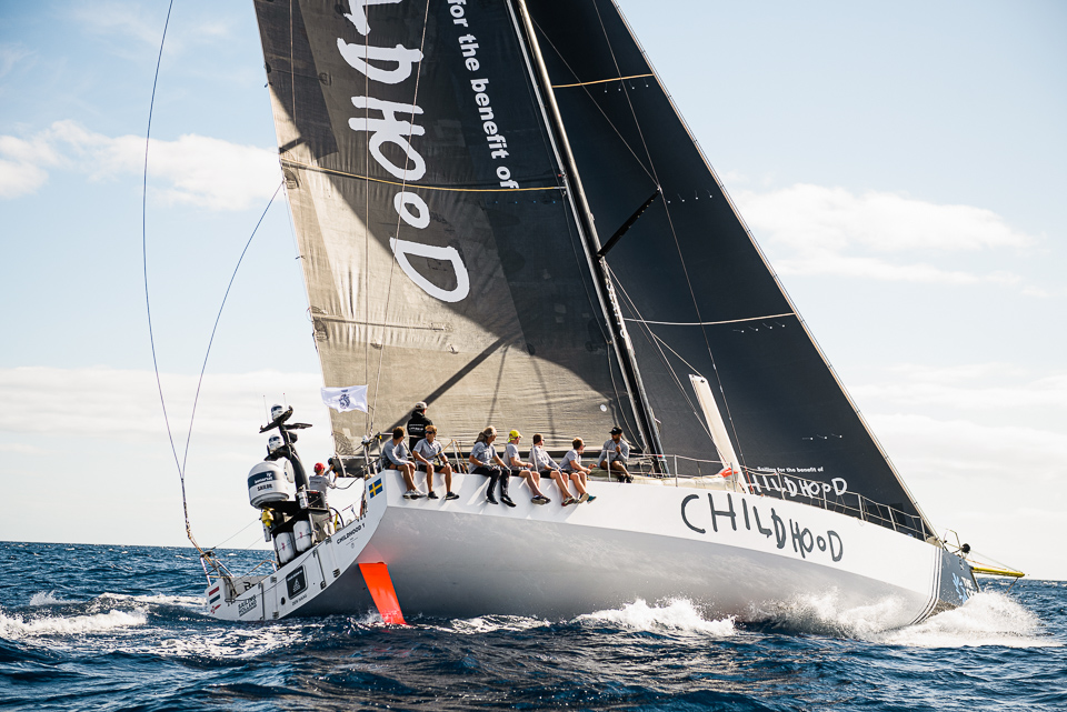 Looking good for line honours in Grenada - Bouwe Bekking's VO65 Childhood I © Joaquin Vera/RORC/Calero Marinas